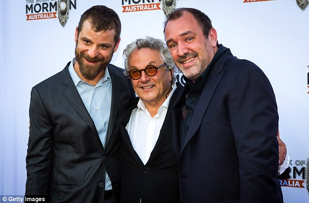 Famous faces:At one point, the talented pair posed for photos with Australian film director George Miller, 71