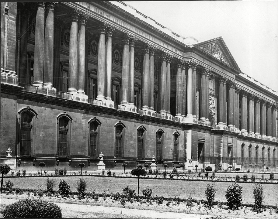 Historic: The Musée du Louvre, pictured in 1949. became a public museum during the French Revolution after Louis XVI was imprisoned