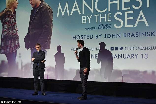 Host with the most: Both Jon, who was hosting the event, and Kevin gave a special speech ahead of the film's playback