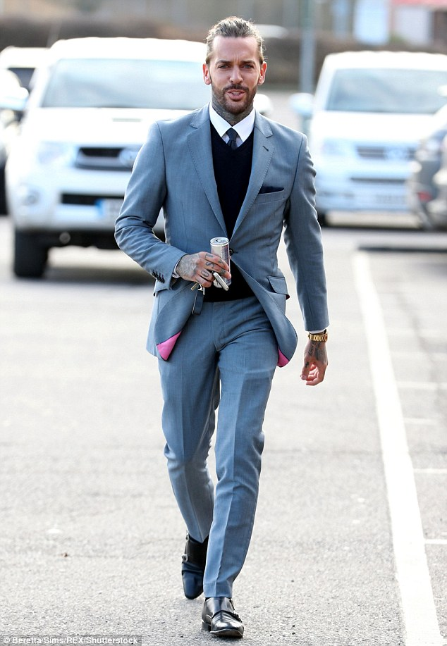 Suit you! Pete Wicks arrived at filming looking sharp in a soft grey suit