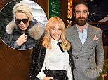 Kylie Minogue with Joshua Sasse in London at a party last year for the world premiere Absolutely Fabulous: The Movie