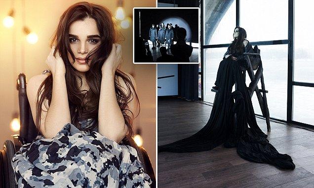 Ukrainian model first to star in runway show in wheelchair