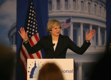 Theresa May in the U.S.