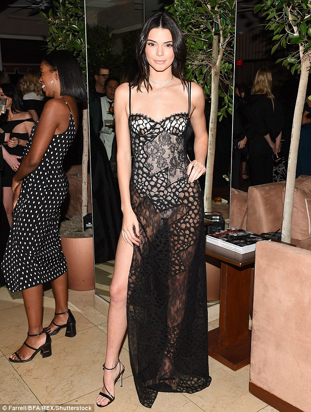 More risque: Kendall admitted she consults her friends Hailey Baldwin and Gigi Hadid before donning any revealing ensembles