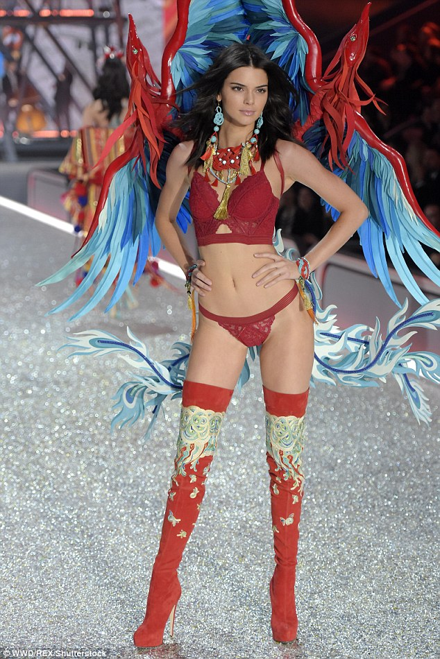 Catwalk ready: The star showed off her super slim figure at the Victoria's Secret Fashion Show last November