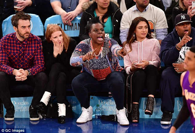 Watch out! The group were devastated as their team went on to lose to the Los Angeles Lakers
