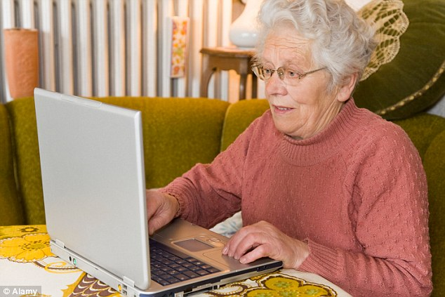 The study, carried out among pensioners aged 65 to 95, found using the internet improved the group's social skills and competence (file image)