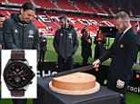 MANCHESTER, ENGLAND - FEBRUARY 08:  Jean-Claude Biver, TAG Heuer CEO and President of the LVMH Watch Division, Ander Herrera, Zlatan Ibrahimovic, David De Gea and Wayne Rooney attend the launch of the TAG Heuer Manchester United partnered special editions at Old Trafford on February 8, 2017 in Manchester, England.  (Photo by David M. Benett/Dave Benett/ Getty Images for TAG Heuer)