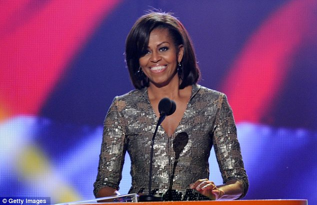 Presenter: Mrs Obama was possibly the most famous of all the stars handing out awards during the show