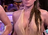 A cameraman accidentally gave viewers of a TV game show an eyeful when he got distracted by a woman's breasts