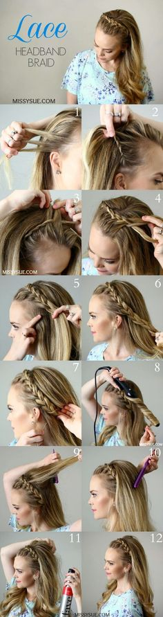 headband braid long