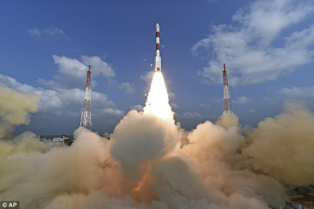 The rocket blasted off from the southern spaceport of Sriharikota said India's Space Research Organisation (ISRO)