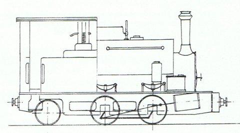 Hudswell Clarke saddle tank locomotive