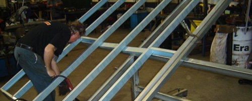 Step 2 – Your steel frame walls and roof are constructed by our expert team