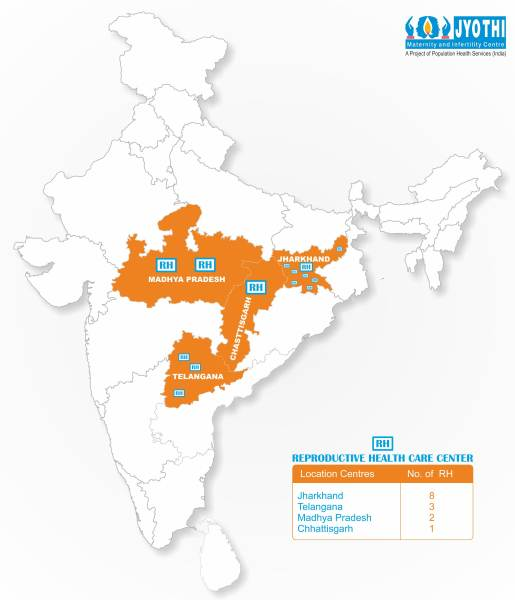 JYOTHI CENTRE INDIA MAP