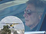 Actor and producer Harrison Ford was spotted in his Tesla Model S on Wednesday - the first time he has been seen since in public since he nearly flew his single-engine plane into a Boeing 737 at Santa Monica Airport in California on Monday