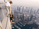 Viki Odintcovaposed for the death-defying photoshoot on top of one of the world's tallest skyscrapers