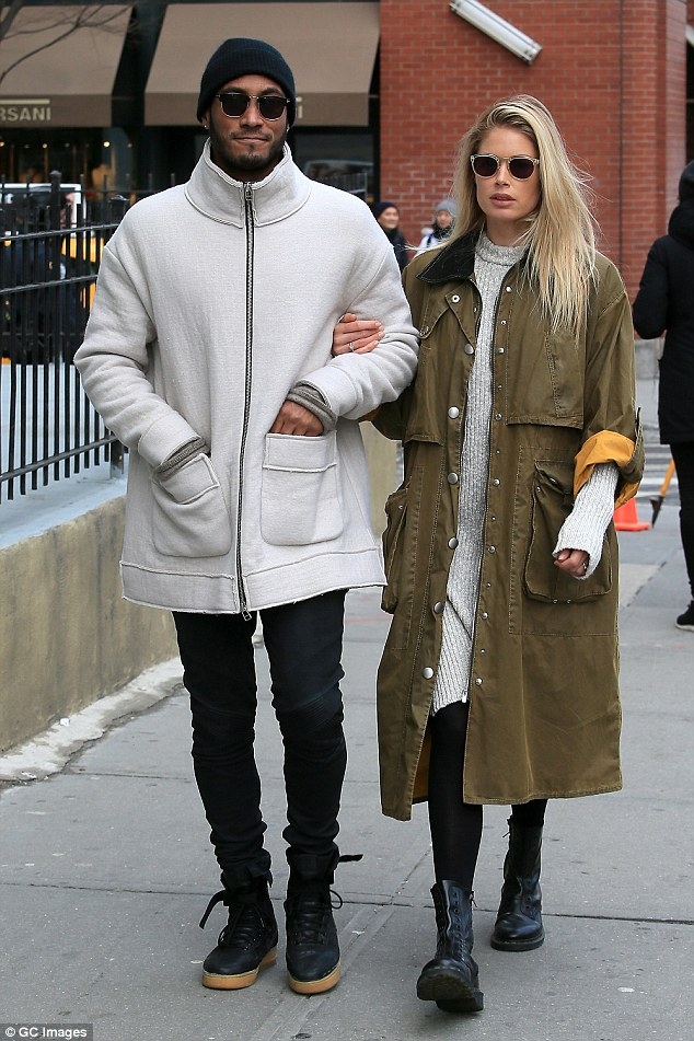 PDA in NYC: Doutzen Kroes and husband Sunnery James Gorré were spotted taking a walk around their New York neighborhood on Tuesday