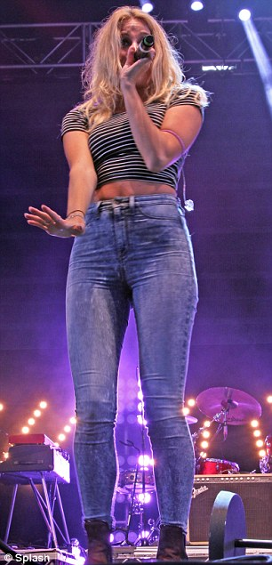 Centre stage: Pixie was on song during her performance at he Blackpool Illuminations Switch On