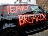 The Range Rover daubed with 'cheater' graffiti belongs to Championship footballer Steven Caulker, it has been revealed