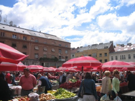 zagreb daily central market: