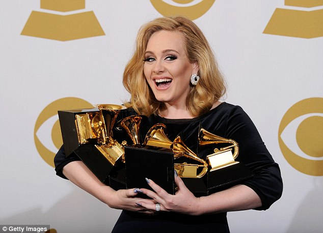New album? Adele is said to be slowing working on a third album, a follow up to her smash hit 21 which has helped amass her a fortune of over £50million