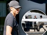 Spin it:Michelle Obama was photographed leaving a SoulCycle class in Washington DC on Thursday afternoon (above)