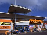 Downhill: Halfords shares plunged after Peel Hunt slashed its rating on the stock to 'sell'