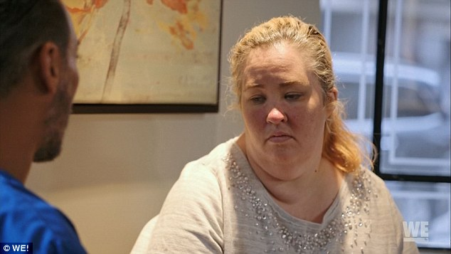 Transformation: 'Mama' June Shannon vowed to lose weight in her WE tv series Mama June: From Not To Hot which premiered on Friday night