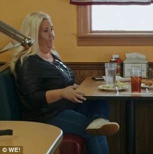 Dating nightmare: She then sulked and hit up the fatty fried buffet foods she had earlier avoided