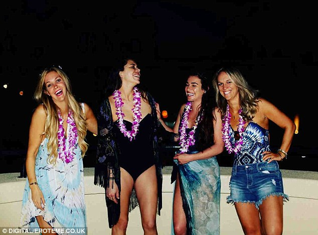We are laughing: They posed for a snap together during one of their night outings