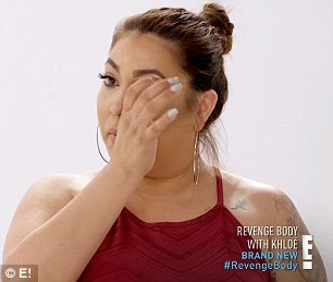 Hard journey: Gabriela wiped away tears while opening up to Khloe