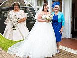 At her wedding Angela England, 53, avoided the camera while weighing 23 stone in a size 34 dress and hated people saying she looked nice when 'the opposite was true'