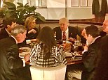 President Donald Trump had dinner with his daughter Ivanka and her husband, senior White House adviser Jared Kushner, British politician Nigel Farage and Florida Governor Rick Scott on Saturday evening atthe luxury hotel bearing his name, the Trump International Hotel