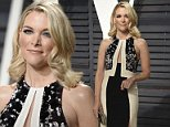 She's back: Megyn Kelly attended the Vanity Fair Oscar Party in Los Angeles on Sunday night (above)