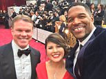 Dynamic duo: Accountants Martha Ruiz and Brian Cullinan are in charge of overseeing Oscars results, and were the two PwC employees at the Dolby theater on Sunday (above on the red carpet)