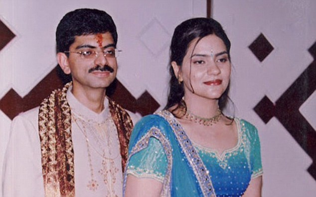 Mitu Khurana (right), from Jaipur, claims her husband Kamal (left) secretly asked doctors to take an ultra-sound of her babies while she was in hospital with a stomach complaint in 2004