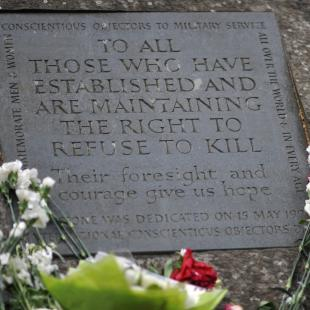 Conscientious objector memorial stone, London