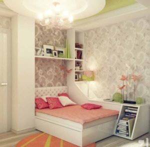 Awesome Peach Green Gray Girls Bedroom Ideas Luxury Chandelier