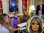 Fox & Friends captured first lady Melania Trump (left) hard at work, as she explained planning each White House event is like planning a wedding