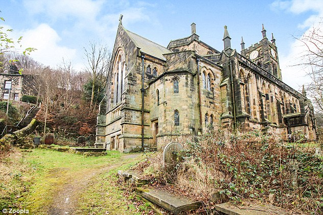 The Grade II listed former church has a price tag of £150,000 and boasts a large bell tower