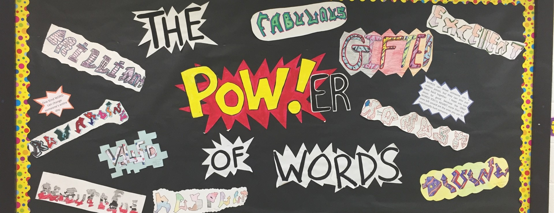 Mrs. Leigh Ann Wells' class showing the power of Positive Words!
