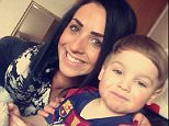 Lydia Macdonald died in her bed at home and her three-year-old son, Mason Martin (pictured together), was the only other person in the house