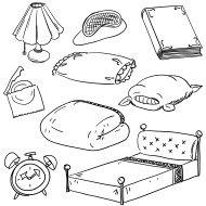 Bedroom accessory in black and white