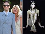Private naked photos of Kate Moss on her wedding day have reportedly been stolen by hackers. She is picture with estranged husband Jamie Hince at their wedding in 2011