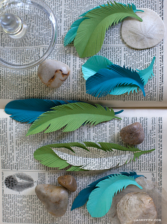 Paper Feather Templates
