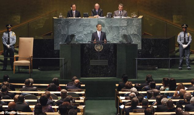 Keynote address: President Barack Obama calls for peace between Israel and Palestine during the 65th United Nations General Assembly in New York
