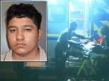 Arrested: Oliver Funes, 18, allegedly beheaded his own mother before walking out of their home carrying her head