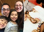 New life:Jessica McClure (above with husband Danny Morales, son Simon and daughter Sheyenne) was rescued after falling down a 22-foot well in her family's backyard in Midland, Texas in 1987