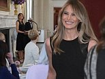 First lady Melania Trump was back in Washington today and hosted her first luncheon in her new role